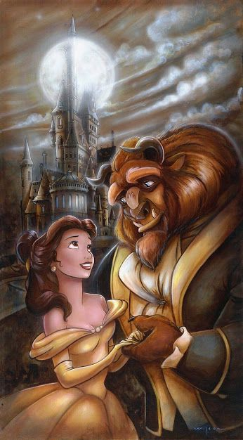 BEAUTY AND THE BEAST (9) COLOURED CROSS STITCH KIT