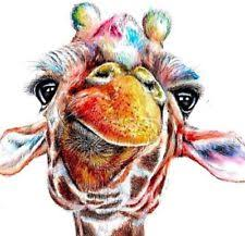 GIRAFFE (5) COLOURED CROSS STITCH KIT