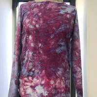 "Ice dyed Top size 12 ""Bougainvillea"""