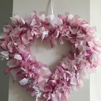 Rag wreath heart