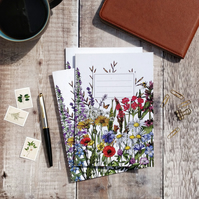 A5 Lined Wild Meadow Flowers Notebook