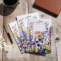 A5 Lined Wildflower Watercolours Notebook