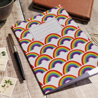 A5 Lined Rainbow Notebook