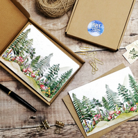Forest and Mountains printed notecards & envelopes