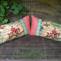 Vintage Cushion 'Tally Ho' by Sanderson