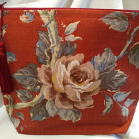 Large Vintage Cosmetic Bag