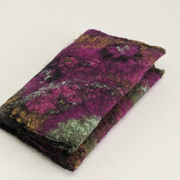 Credit card wallet: felted wool