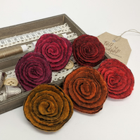 Art deco inspired rose brooch - the autumnals selection