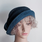 Navy and denim felted wool hat - homage to Downton!