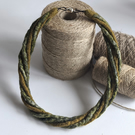 The Small Twist: felted cord necklace in shades of olive