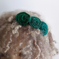 Flower hair band: strong greens