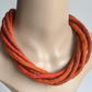 The Chunky Twist: felted cord necklace in shades of orange