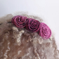 Flower hair band: pink art deco roses