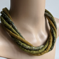 The Chunky Twist: felted cord necklace in shades of olive