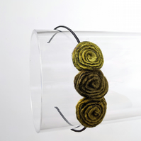 Flower hair band: soft olive art deco roses