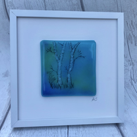 Fused glass and enamel picture