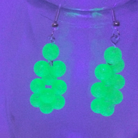 Neon party dangly earrings 925 silver