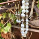 Pearl bracelet and earrings