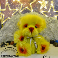 Artist plush bear: Sola the Atom Puff
