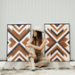 Aztec, Geometric Wood Wall Art