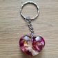 Heart Flower Key Ring