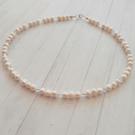 Pearl and Swarovski Crystal Necklace. Marie Necklace