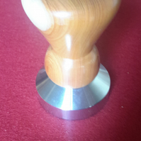 Hand Turned Yew Wood Coffee Tamper