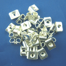 100 x Silver Plated Earring Backs (Free 1st Class Postage to UK) 5mm x 4mm