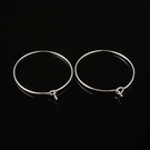Wine Glass Charms 25mm Earring Hoops Pack of 26  Silver Tone