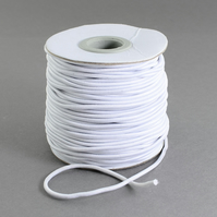 2mm Wide White Round Hat Elastic x 5 Metre cut length supplied on card bobbin