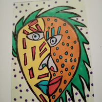 Abstract, naive style Aceo