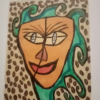 Abstract, naive ACEO, original