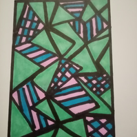 Abstract, aceo, original