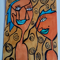 Aceo, abstract, Naive, original