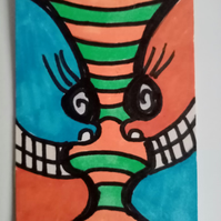 Aceo, Naive, original, abstract