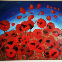 Field of poppies Lest we forget
