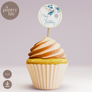 Happy Birthday printable cupcake toppers