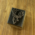 Stags Head  Printing Stamp   Ink Block.  Wax Seal. (Hand Made)