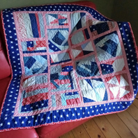 Americana Style Patchwork Quilt