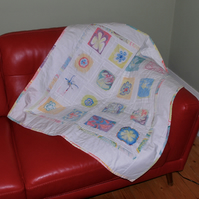 Hand Marbled Patchwork Quilt