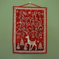 Reindeer Advent Calendar - Makower Scandi Deer Red