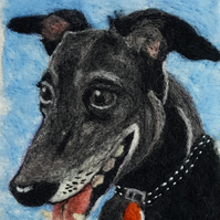 needlefelted pet portrait