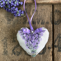 Lavender gift hanging heart lavender scent lucky door hanging gift