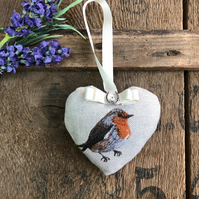 Hanging heart robin lavender lucky door hanging gift home decor