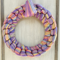 Chunky Knit Merino door Rainbow wreath unicorn