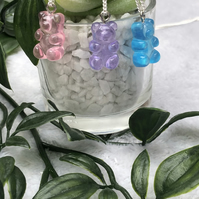 Resin gummy bear necklace