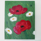 Poppies and ox-eye daisies painting