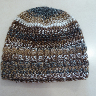 Women's Crochet Hat - Shades of Hazel - Size S