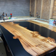 Black Epoxy River tables