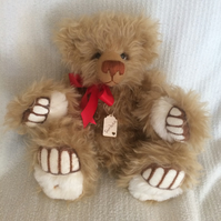 "AMBER- A Beautiful Hand Sewn, Collectable Artist Bear Standing 15"" Tall"
